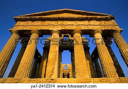 Stock Photo of Italy, Sicily, Agrigento, Temples valley Valle dei.