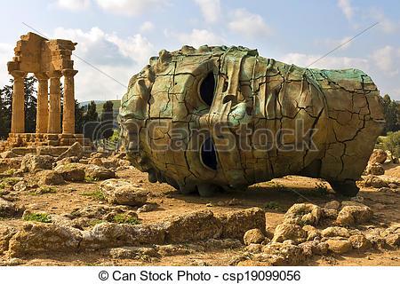 Stock Images of Valle dei Templi, Agrigento, Sicily.