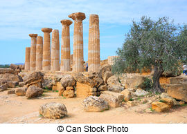 Stock Images of Valle dei Templi Agrigento.