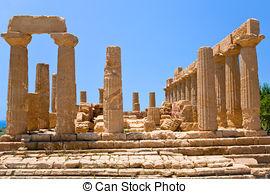 Stock Image of valle dei templi di Paestum csp9499806.