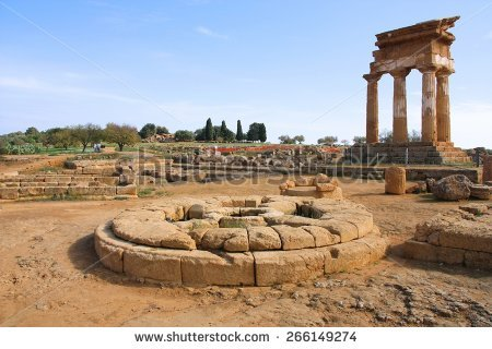 Valle Dei Templi Stock Images, Royalty.