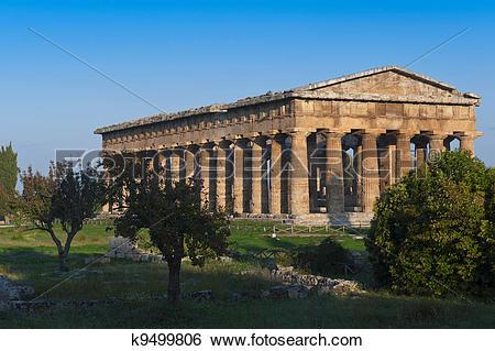 Stock Images of valle dei templi di Paestum k9499806.
