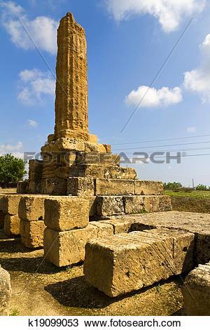 Stock Photo of Valle dei Templi, Agrigento, Sicily k19099053.