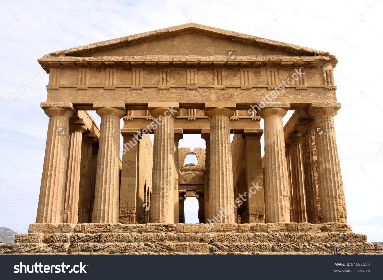 Agrigento Sicily Island Italy Famous Valle Stock Photo 84692650.