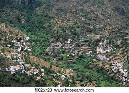 Stock Photo of Spain, Canary Islands, La Gomera, Valle Gran Rey.
