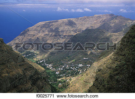 Stock Photography of Spain, Canary Islands, La Gomera, Valle Gran.