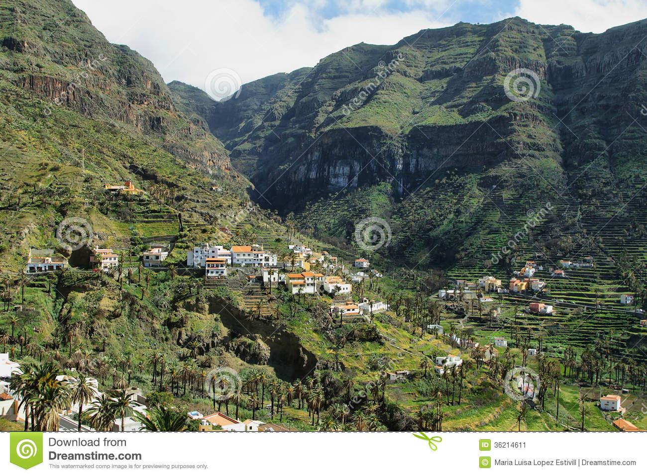 The Valle Gran Rey On The Island La Gomera Stock Image.