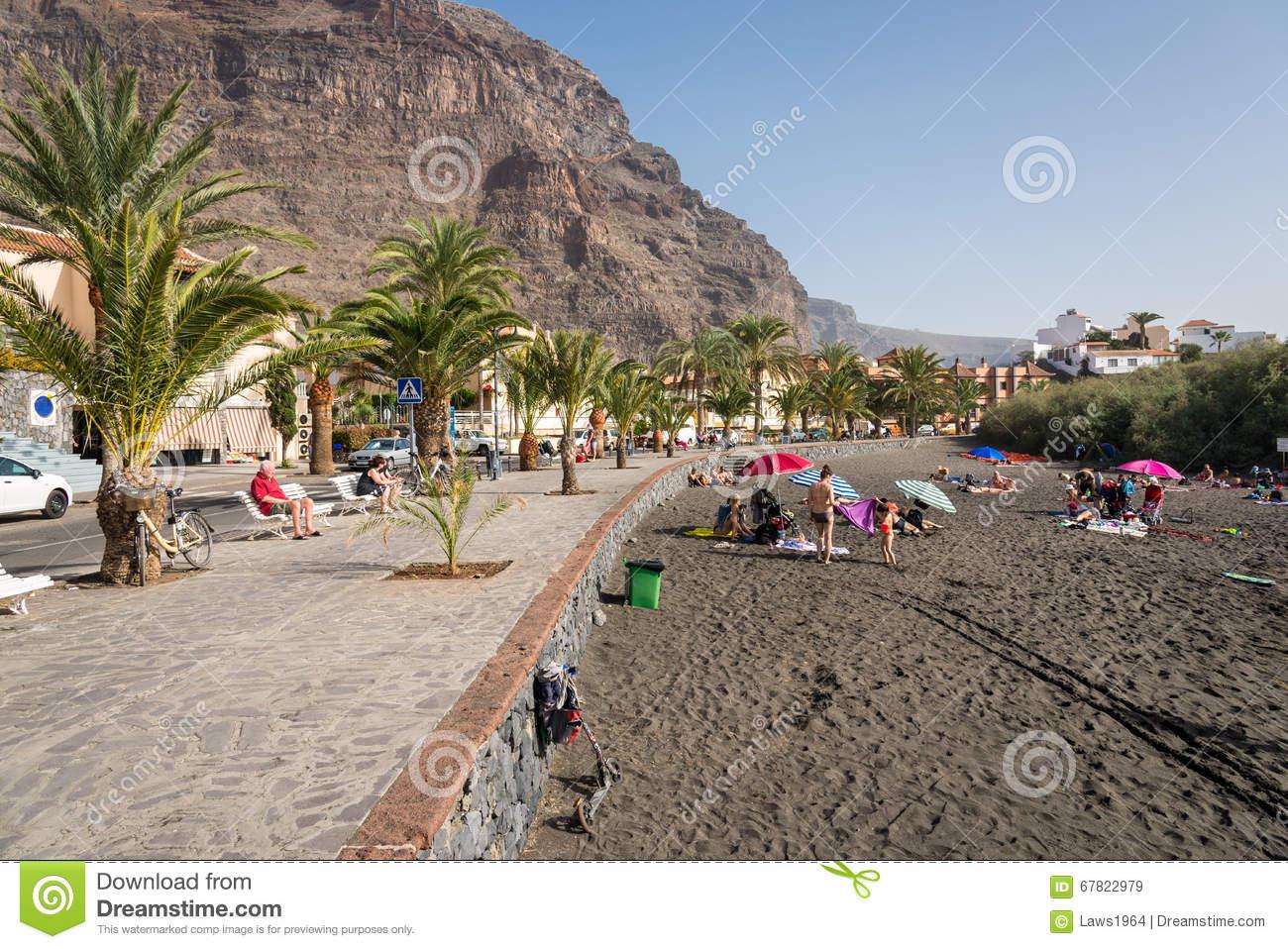 Baby Beach In The Valle Gran Rey, La Gomera Editorial Stock Image.