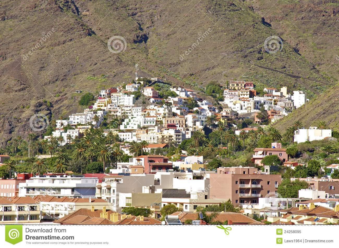 Valle Gran Rey, Gomera Royalty Free Stock Photo.