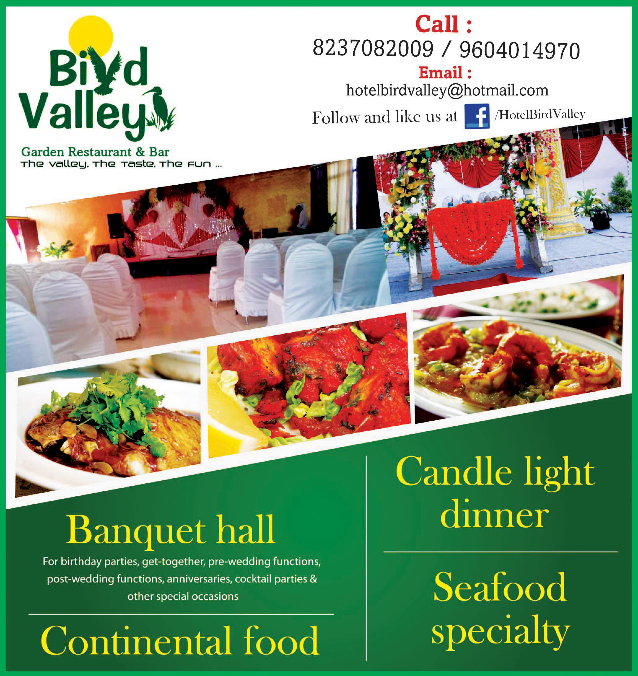 Bird Valley Garden Restaurant Pune.