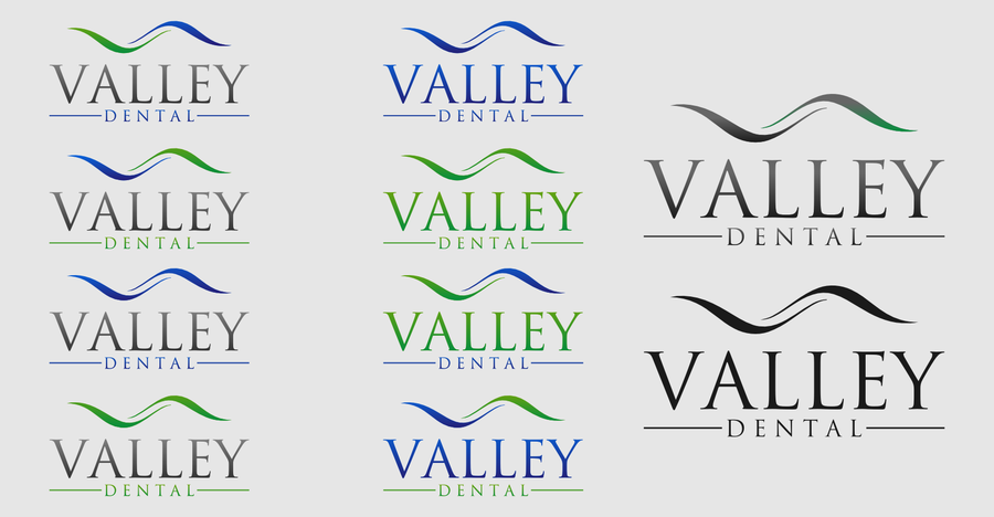 Create the next logo for Valley Dental.