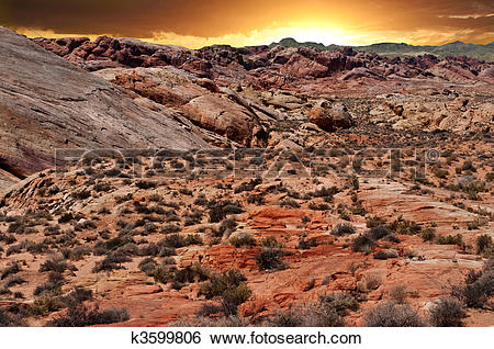 Stock Images of Valley of Fire National Park k3599806.