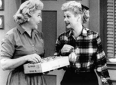 I love lucy and ethel clipart.