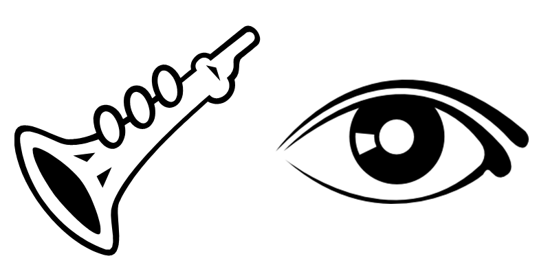 My valley of love and delight clarinet and eye clipart.