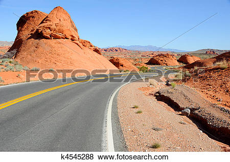 Pictures of Scenic Road Through Valley of the Fire State Park.