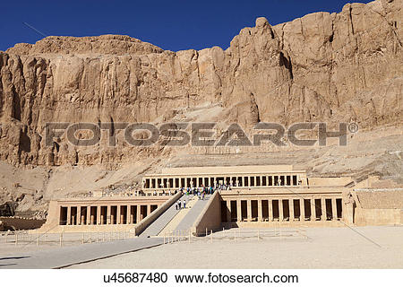 Stock Photography of Egypt, New Valley, Hatshepsut Temple. A view.