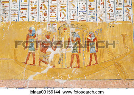 """Stock Photo of """"The royal tomb of Ramesses IV, KV2, inside, Valley."""