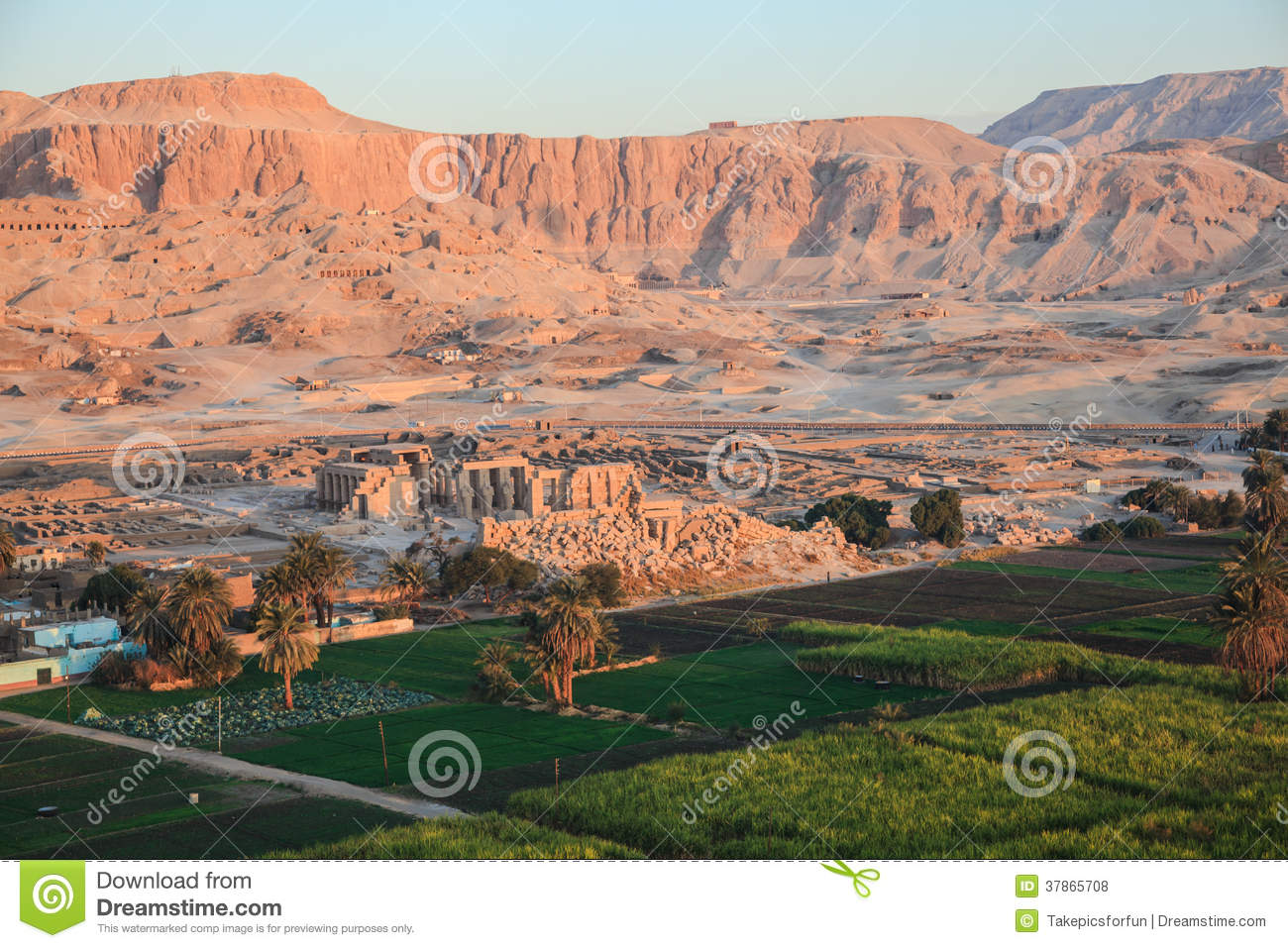 Aerial View Of The Valley Of The Kings Royalty Free Stock Photos.