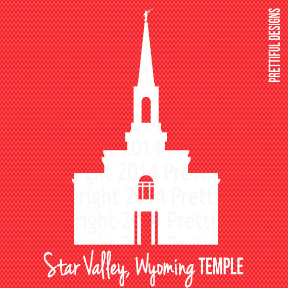 Star Valley Wyoming Temple LDS Mormon Clip by ILoveToSeeTheTemple.