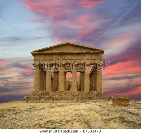Greek Temple Stock Photos, Royalty.
