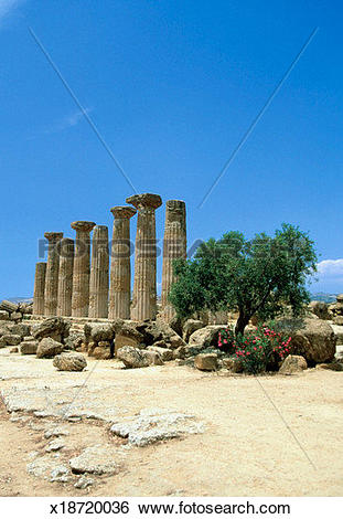 Stock Images of Ruins of the Temple of Hercules, Valley of the.