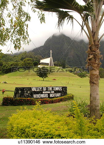 Stock Images of Kaneohe, Oahu, HI, Hawaii, Valley of the Temples.
