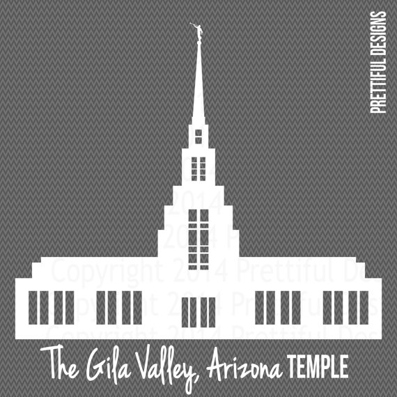 The Gila Valley Arizona Temple LDS Mormon Clip Art png eps svg dxf.