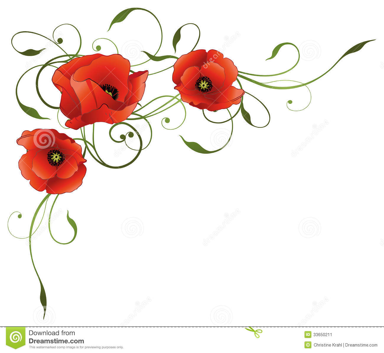 Poppies Border Stock Photos, Images, & Pictures.