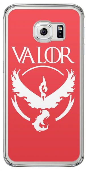 Loud Universe Samsung Galaxy S6 Edge Team Valor Logo Print Transparent Edge  Case.