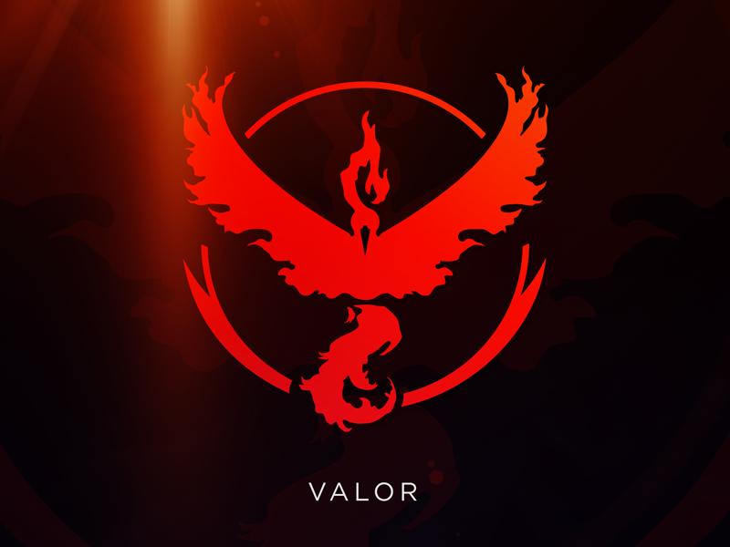 Valor: Pokemon GO Team Logo [Vector Download] by Meritt.