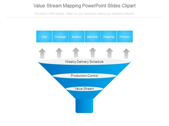 Value Stream Mapping Powerpoint Slides Clipart.