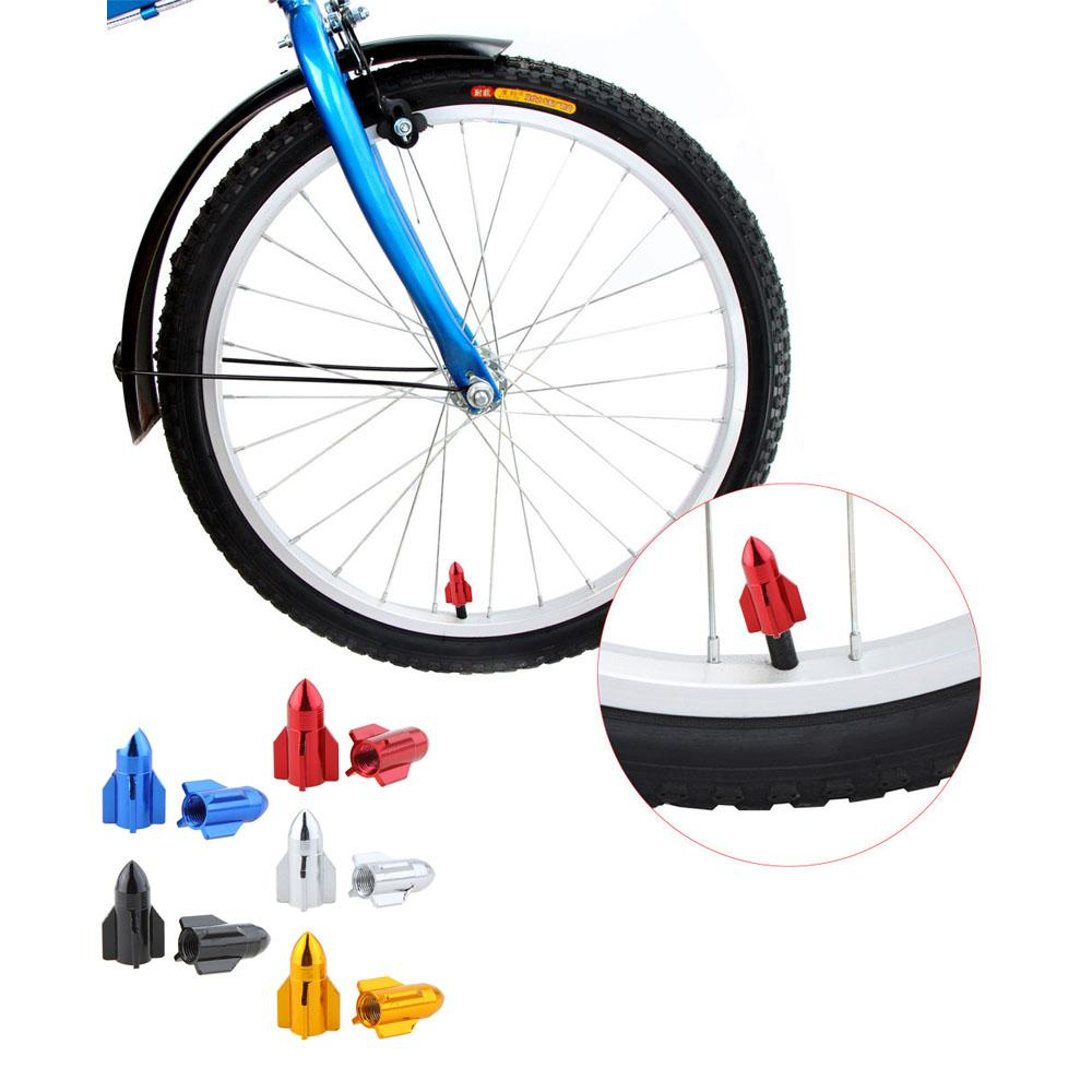 Rocket Shape Road Bicycle Valve Cap Motor Bike Car Valve Cap Mouth.