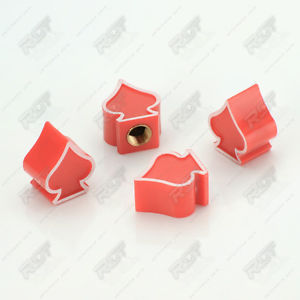 4x DUST CAP TYRE VALVE Valve cap PIK RED FOR CAR TRUCK MOTORCYCLE.