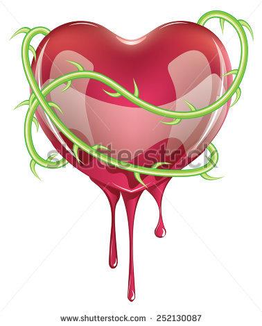 Bleeding Heart Vector Stock Photos, Royalty.