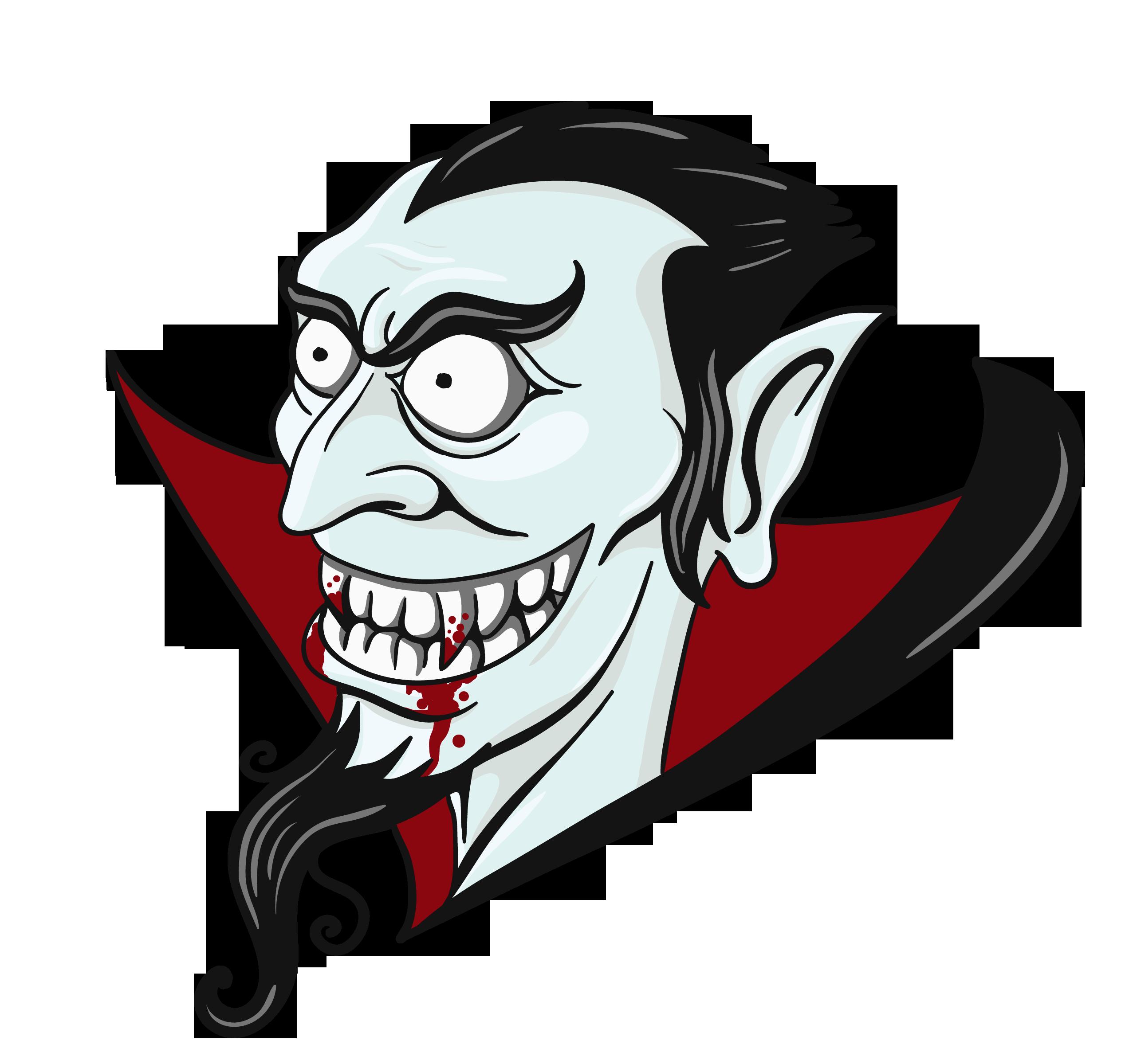 Vampire Head PNG Clipart.