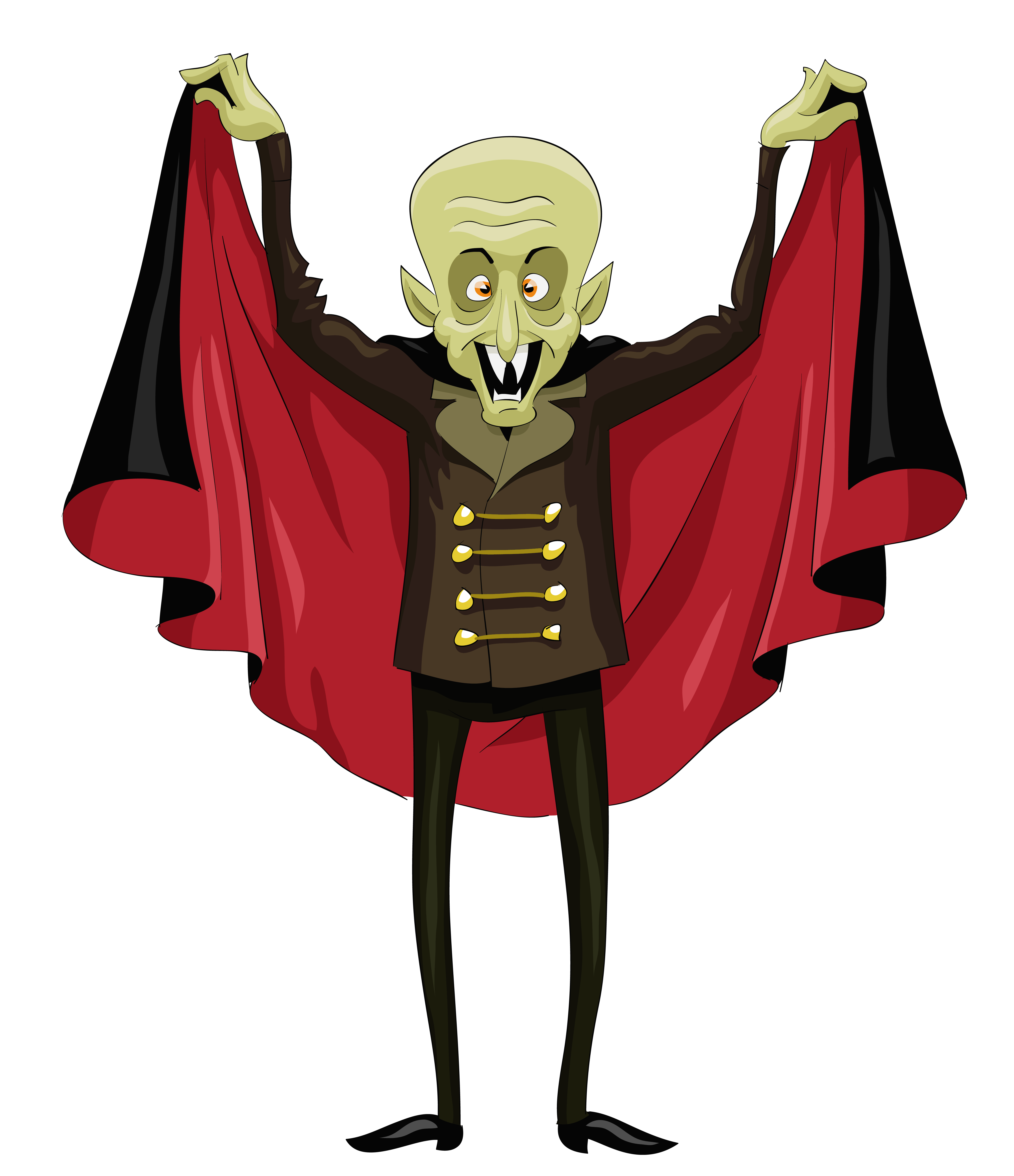 Halloween Ugly Vampire PNG Clipart.
