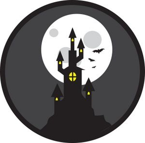 Haunted House Clipart Image.