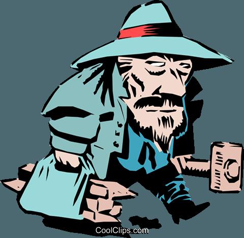 Cartoon vampire hunter Royalty Free Vector Clip Art.