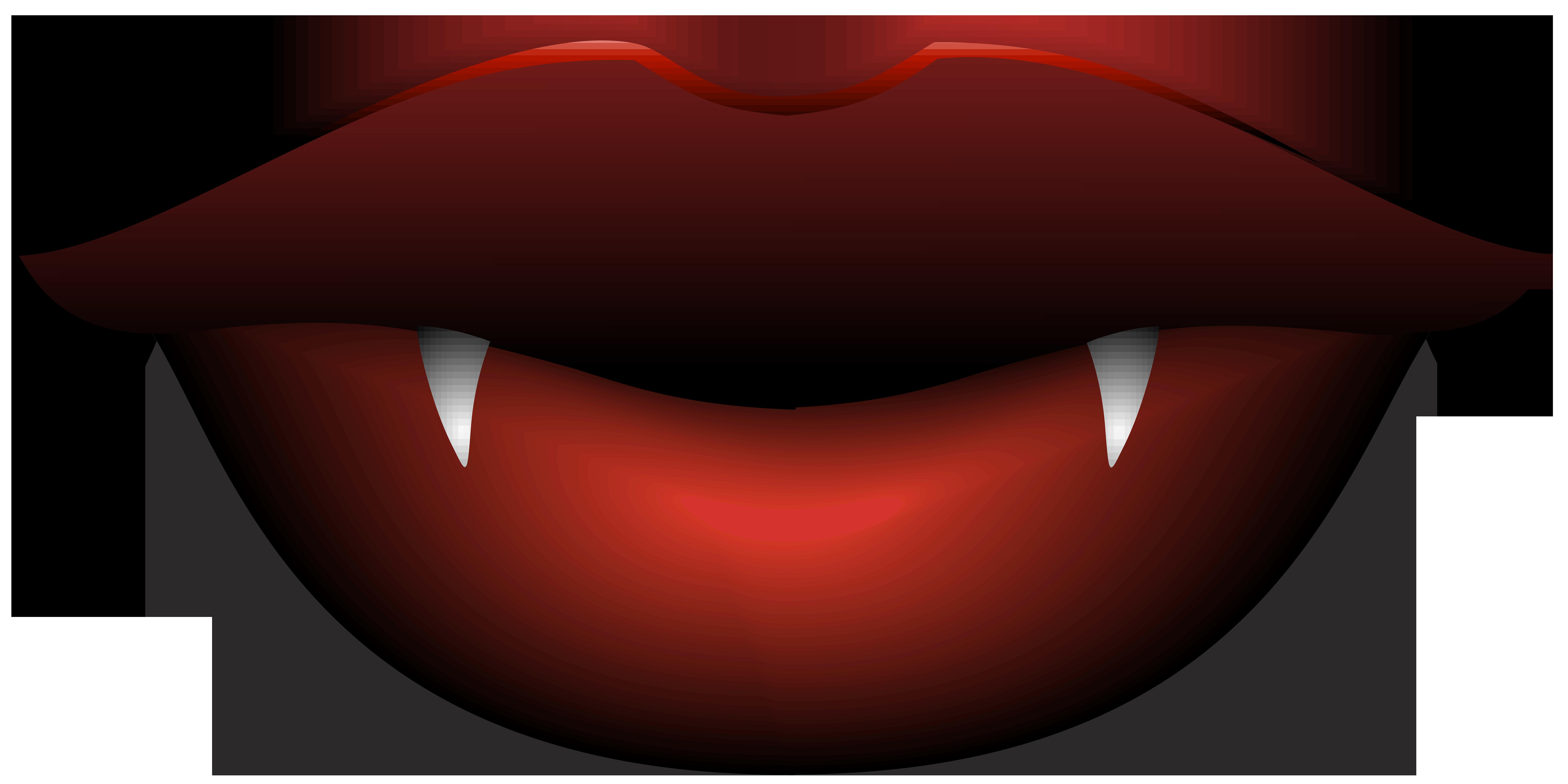 Vampire Lips Transparent PNG Clip Art Image.