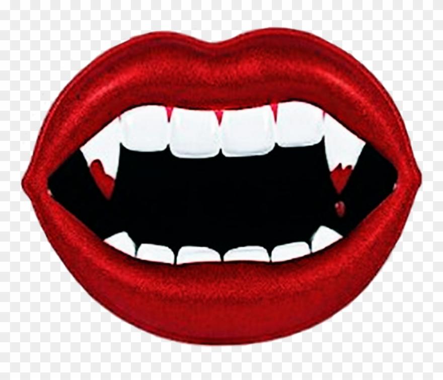 Vampire Lips Redlips Fangs @darkestocean.
