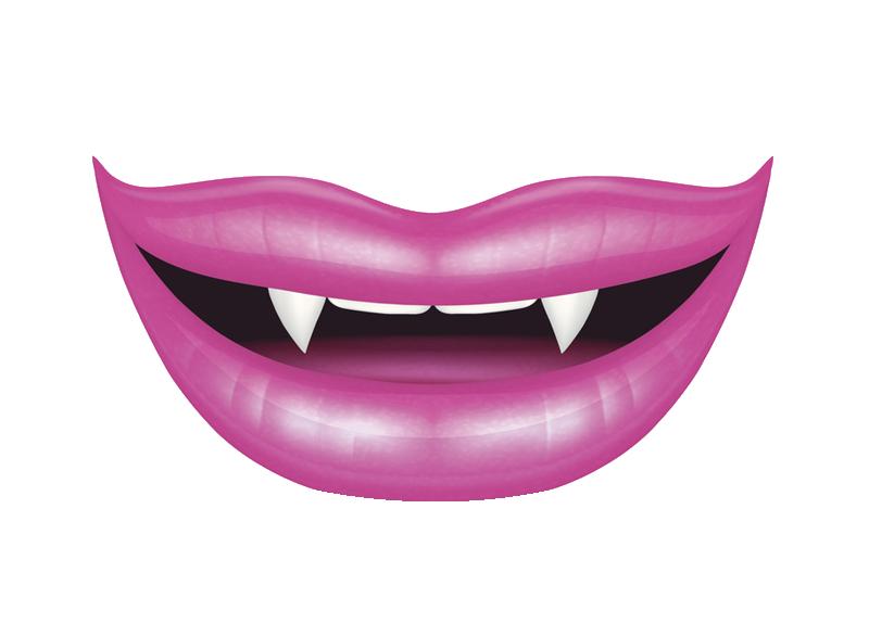 Lip Vampire Smile Illustration.