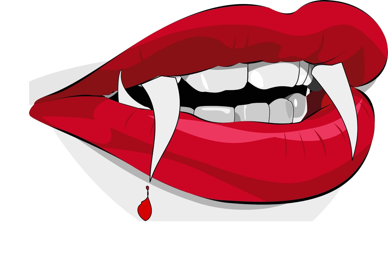 Vampire Fang Tooth Clip art.