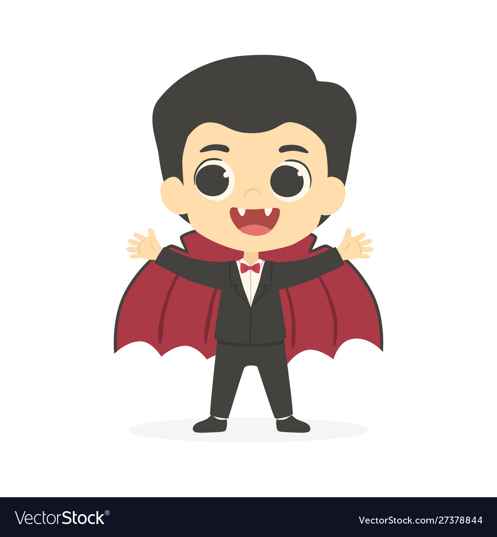 Halloween cute dracula vampire boy costume.