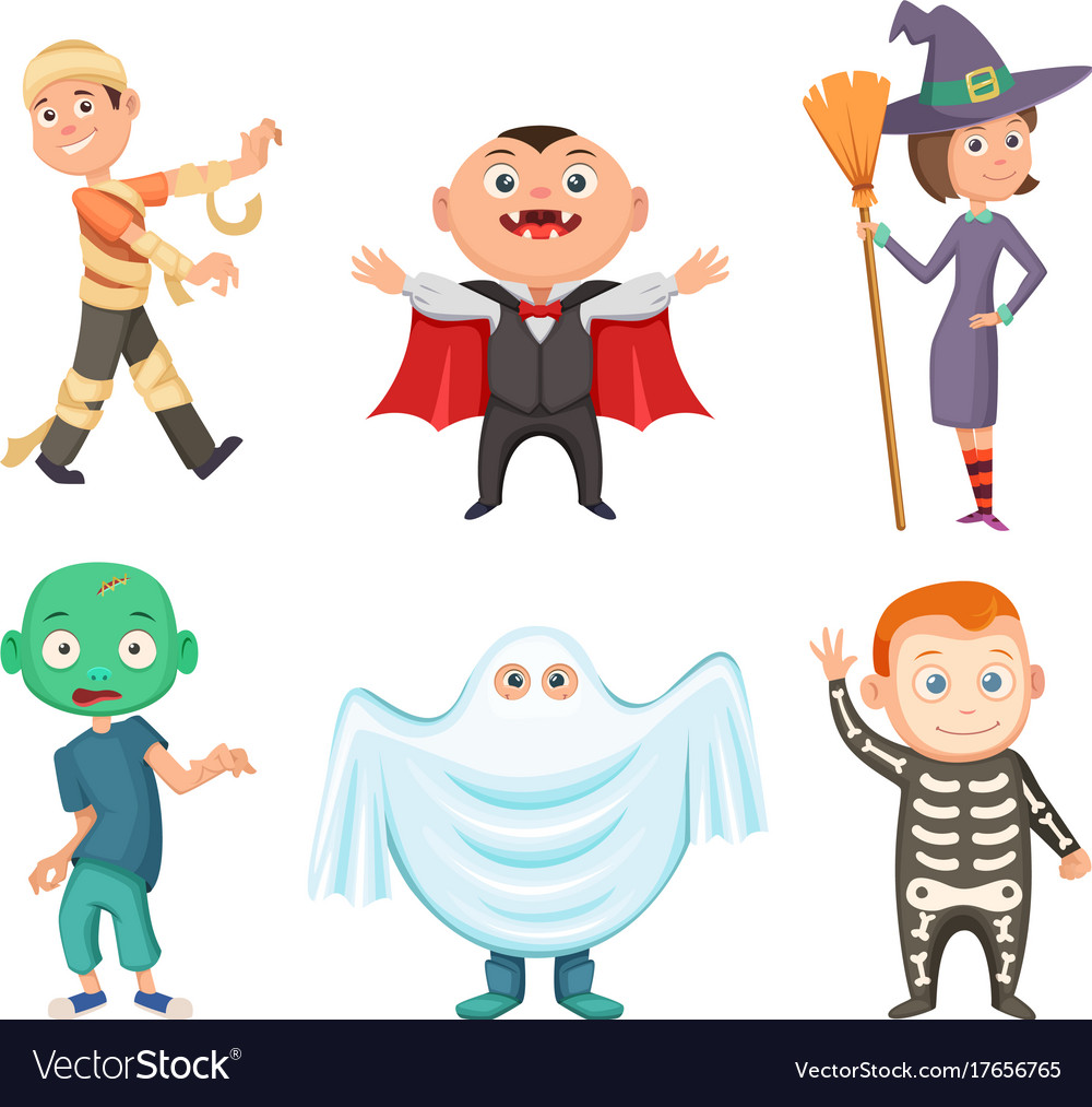 Halloween costumes for kids zombie vampire.