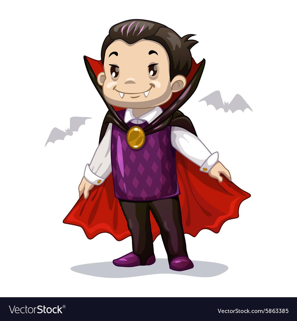 Funny cartoon little vampire.