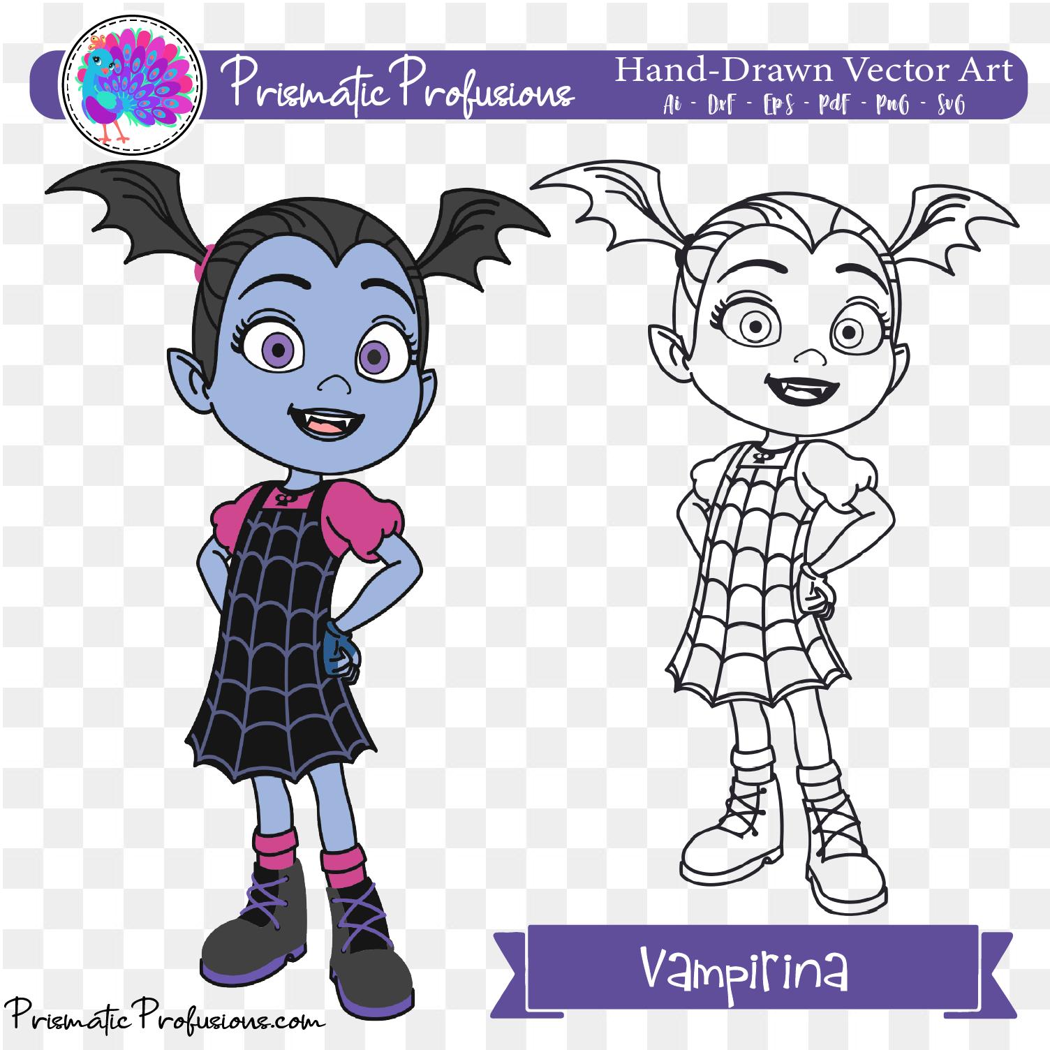 Vampirina, Vampirina SVG, Vampirina Clipart.