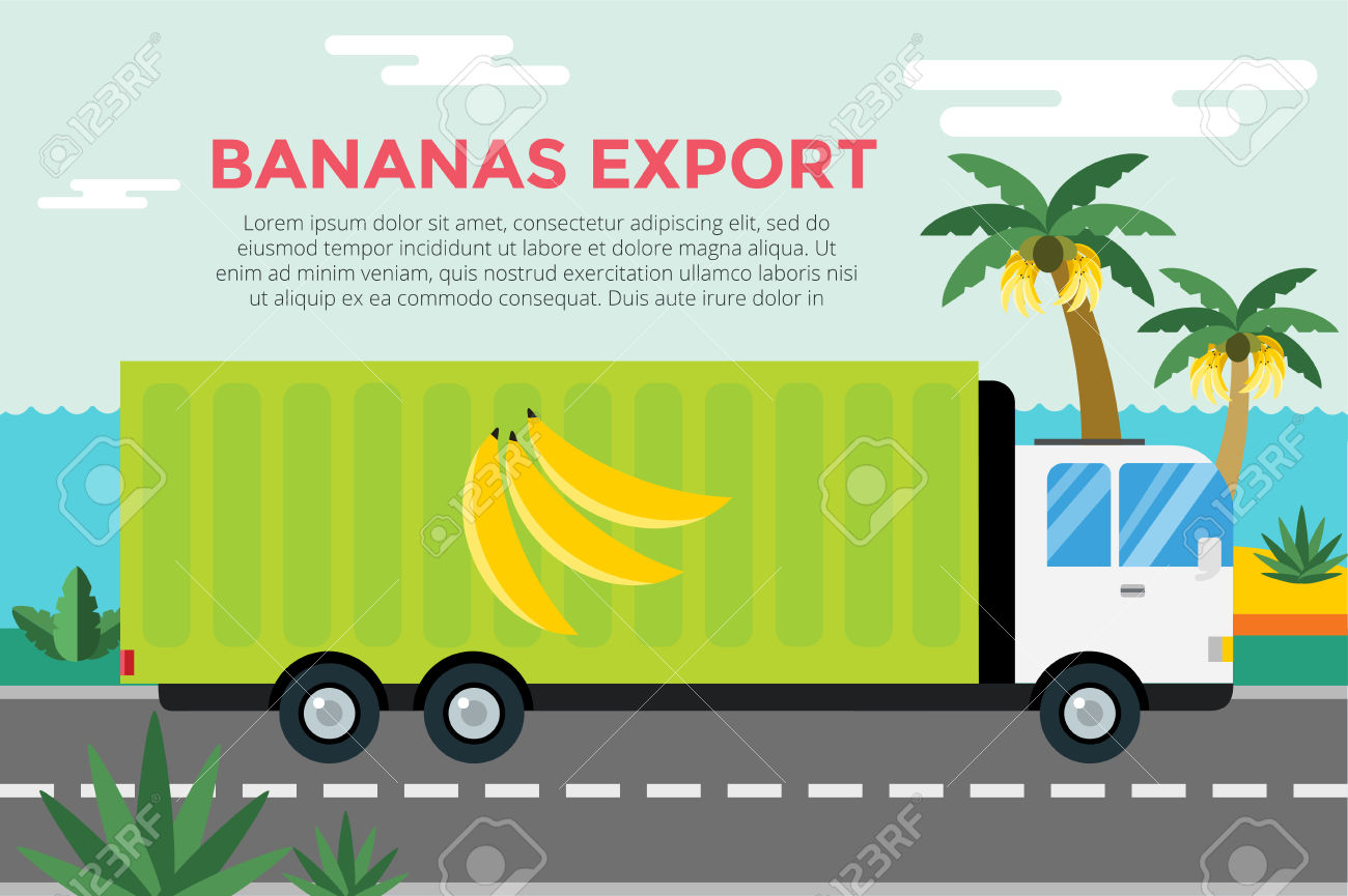 Banana Delivery Truck. Royalty Free Cliparts, Vectors, And Stock.