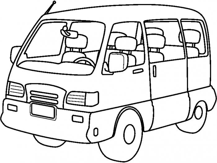 Clipart Van Clip Art Library Minivan Png Black And White.