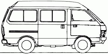 Black And White Clipart Van.