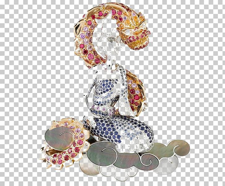 Earring Jewellery Van Cleef & Arpels Brooch Ruby, Dragon.